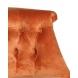 Дополнительное фото №2 - Кресло низкое терракотовое велюровое 24YJ-8044B