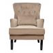 Дополнительное фото №0 - Кресло велюровое 24YJ-7004-06413/1 бежевое