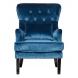 Дополнительное фото №0 - Кресло велюровое 24YJ-7004-06466/1 синее.