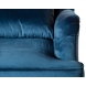 Дополнительное фото №1 - Кресло велюровое 24YJ-7004-06466/1 синее.