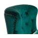Дополнительное фото №1 - Кресло бархатное 24YJ-7004-07342/1 зеленое