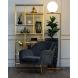 Дополнительное фото №4 - Кресло на металлическом каркасе велюровое серо-зеленое 46AS-AR2976-GR