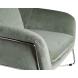 Дополнительное фото №1 - Кресло на металлическом каркасе велюровое светло-оливковое 46AS-AR2976-OLV