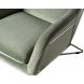Дополнительное фото №2 - Кресло на металлическом каркасе велюровое светло-оливковое 46AS-AR2976-OLV