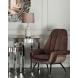Дополнительное фото №4 - Кресло велюровое 46AS-AR3092 серо-розовое