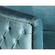 Дополнительное фото №1 - Кресло велюровое 48MY-2533 бирюзовое