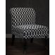 Дополнительное фото №5 - Кресло черно-белое (лён) DY-734