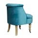 Дополнительное фото №1 - Кресло бирюзовое HD2202868-BBD на колесиках