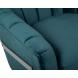 Дополнительное фото №1 - Кресло на металлическом каркасе сине-зеленое ZW-777 GRN SS