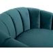 Дополнительное фото №2 - Кресло на металлическом каркасе сине-зеленое ZW-777 GRN SS