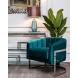 Дополнительное фото №4 - Кресло на металлическом каркасе сине-зеленое ZW-777 GRN SS