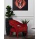 Дополнительное фото №3 - Кресло бархатное темно-красное ZW-781BN39