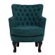 Дополнительное фото №0 - Кресло велюровое PJC741-PJ618 темно-бирюзовое