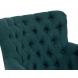Дополнительное фото №1 - Кресло велюровое PJC741-PJ618 темно-бирюзовое