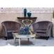Дополнительное фото №6 - Кресло велюровое PJS30801-PJ636 серое