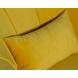 Дополнительное фото №2 - Кресло велюровое ZW-555-06476 желтое