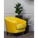 Дополнительное фото №5 - Кресло велюровое ZW-555-06476 желтое