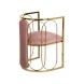 Дополнительное фото №1 - Стул велюровый розовый/золото GY-DC8352GOLD-PK