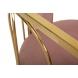 Дополнительное фото №3 - Стул велюровый розовый/золото GY-DC8352GOLD-PK