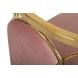 Дополнительное фото №4 - Стул велюровый розовый/золото GY-DC8352GOLD-PK