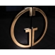 Дополнительное фото №1 - Тумба под телевизор Garda Decor черная с золотом GD-TV002