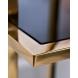 Дополнительное фото №1 - Стеллаж с черным стеклом 46AS-SH1537-GOLD