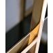 Дополнительное фото №2 - Стеллаж с черным стеклом 46AS-SH1537-GOLD