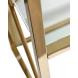 Дополнительное фото №1 - Стеллаж с прозрачным стеклом (золотой) GY-SH8711GOLD