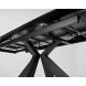 Дополнительное фото №3 - Стол ALEZIO 160 NERO KL-116 итальянская керамика/ черный каркас